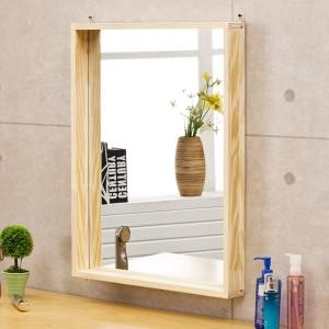 포리드 소나무 원목 사각거울 450