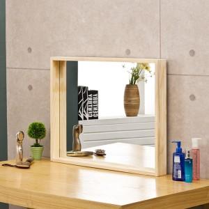 포리드 소나무 원목 사각거울 700