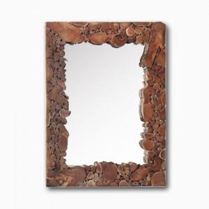 러스틱 티크루트 사각 거울 90 x 70