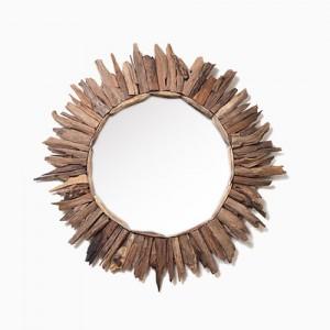 티크 드리프트 우드 원형 거울