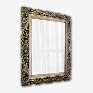 FASCINATION SILVER 원목 사각 거울