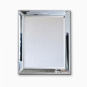 구슬 엔틱실버 베네치안 인테리어 사각 거울