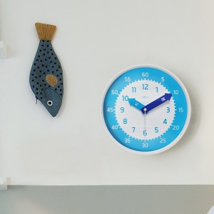 아토무소음교육용벽시계(블루)