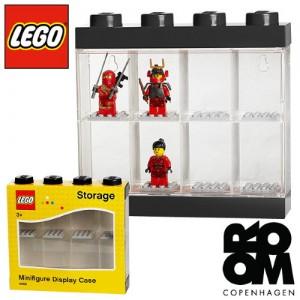 레고 피규어보관함 8pcs 블랙 40650003