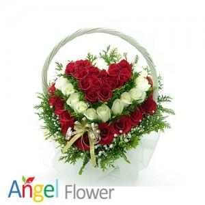 우리의만남 꽃바구니 생일선물 전국당일배송꽃배달