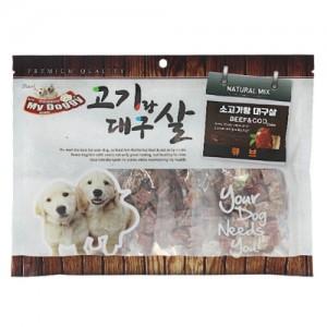 [더독]마이도기 소고기랑 대구살(큐브) 300g