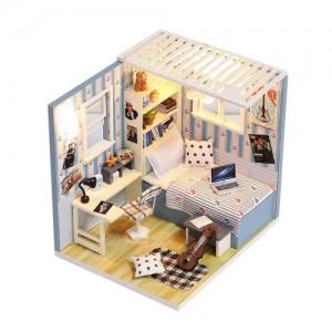 [adico] DIY 미니이처 하우스 - 블루 텍스쳐 하우스