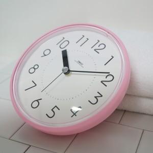 하루욕실방수흡착시계(핑크)