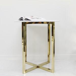 아르마블 정사각 골드 다용도 대리석 식탁테이블