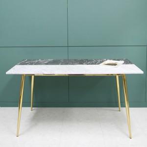 엠마 천연 대리석 투톤 골드 식탁 테이블