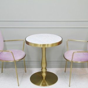 몬드 천연 대리석 원형 테이블