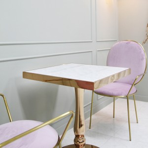 몬드 천연 대리석 사각 테이블