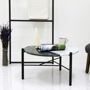 아르마블 원형 3색 대리석 테이블 (3C-360B) 스타투아리오, 엘리버리, 그린