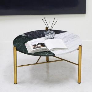 아르마블 원형 3색 대리석 테이블 (3C-360G) 스타투아리오, 엘리버리, 그린
