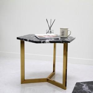 아르마블 육각 대리석 테이블 (대리석-영월석 /스테인레스발색)
