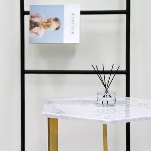 아르마블 육각 대리석 테이블 (대리석-비앙코 카라라 / 스테인레스발색)