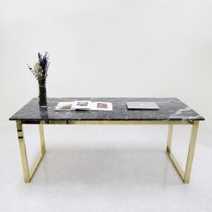 아르마블 천연 대리석 골드 직사각 식탁 테이블 (대리석 그라지오까르니꼬)