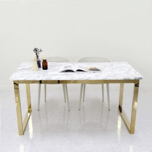 아르마블 천연 대리석 골드 직사각 식탁 테이블 (대리석 아라베스카토)