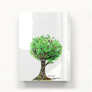 [헬로우아티스트]green tree 아크릴 그림액자by이그린(271119)-6호