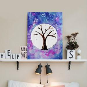 [헬로우아티스트]우주속의 나무 아크릴 그림액자by이그린(271241)-7호