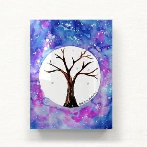 [헬로우아티스트]우주속의 나무 아크릴 그림액자by이그린(271241)-6호