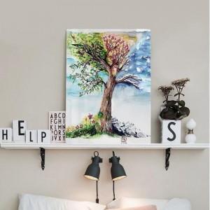 [헬로우아티스트]4계절 나무 아크릴 그림액자by이그린(271354)-7호