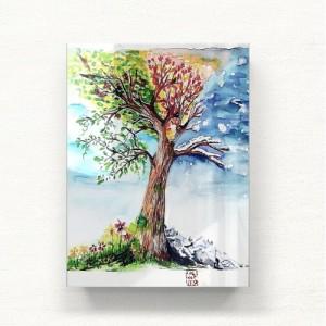 [헬로우아티스트]4계절 나무 아크릴 그림액자by이그린(271354)-6호