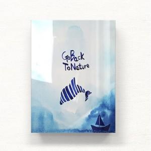 [헬로우아티스트]돌고래의 꿈 아크릴 그림액자by이그린(297811)-6호