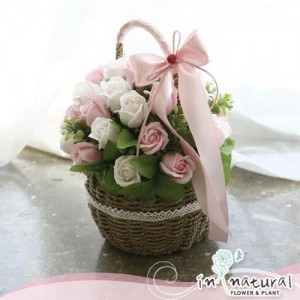 [비누플라워] 크리미솝 로즈_핑크