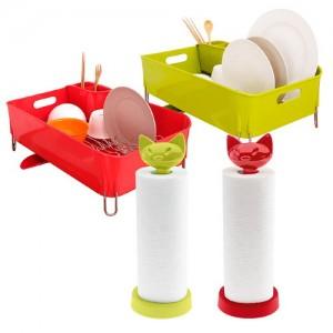 [포커시스]프리플러스 식기건조대(대)+키친타올홀더
