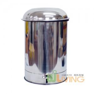 신페달형 스텐휴지통(280x460/20리터) 비닐걸이식/내통없음