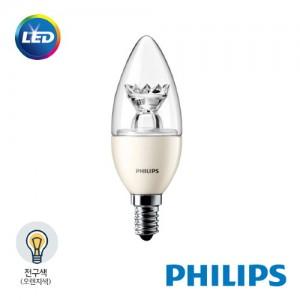 [PHILIPS]정품 필립스 LED 캔들 촛대형 전구 6W 전구색