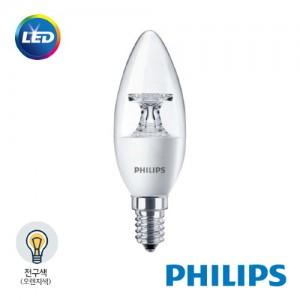 [PHILIPS]정품 필립스 LED 캔들 촛대형 전구 4W 전구색