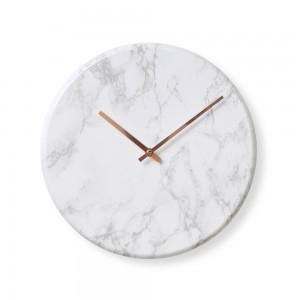 대리석라운드벽시계-화이트