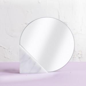 화이트 마블 거울