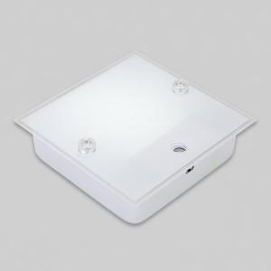 V_110203 사각 LED센서등 실크유리 12W 주광색 10개