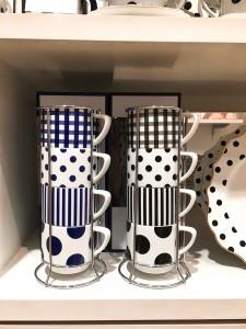 [francfranc] 프랑프랑 어반 시크 타워 머그컵 4P 세트 2종택1 1101090320005