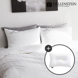 [헬렌스타인] 파워넥 사계절 경추베개+모던클래식 베개커버(40x60)