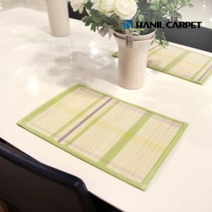 [한일카페트] [4P]파스텔체크 테이블 매트 45x30cm