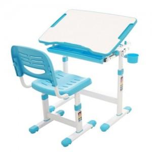[위드그로우]꼬모 높낮이 책상의자세트 블루