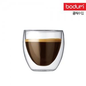 [보덤]파비나 2개입 더블월 유리잔 0.08L BD4557-10