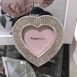 프랑프랑 샐리 하트 프레임 라인스톤 S 스탠드 탁상 액자
