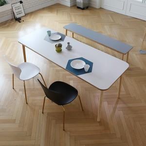 스웨디시 에쉬 원목 8인 식탁 (그레이,핑크,베이지)