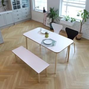 스웨디시 에쉬 원목 4인 식탁(그레이,핑크,베이지)