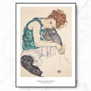 에곤 쉴레 인테리어 그림 액자 포스터 여인
