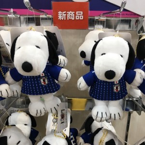 Peanuts 스누피 마스코트 축구 일본 대표 버전 인형