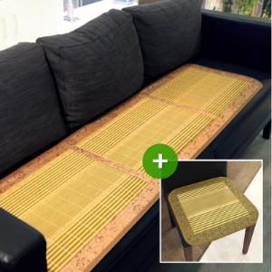 [한일카페트] 리노 3단 대나무 방석 45x160cm+방석