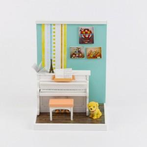 [adico] DIY 미니어처 룸 - 피아노 방