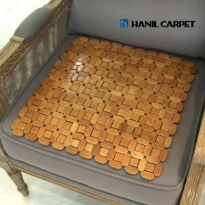 [한일카페트] 디자인 마작 대나무 방석 큐브