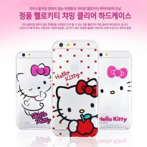 헬로키티 아이폰6플러스 챠밍 클리어 하드 케이스 Hello kitty Charming Clear Hard Case iPhone6Plus